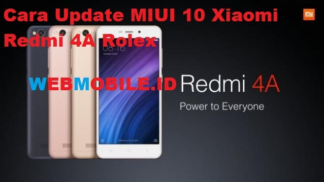 cara flash rom miui 10 redmi 4a