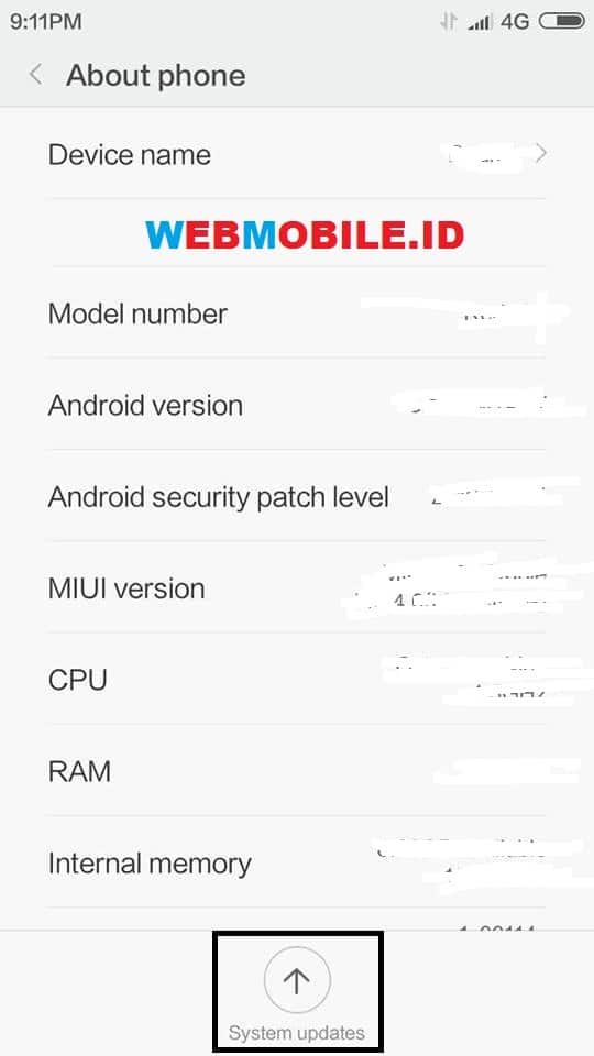 Cara Update / Flash ROM MIUI 10 Redmi 5A (Riva) Global Stable Tanpa Pc